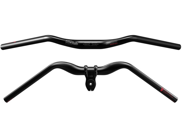 SQlab 302 Comfort 2.0 Handlebar 35 mm, for shaft coupling, black
